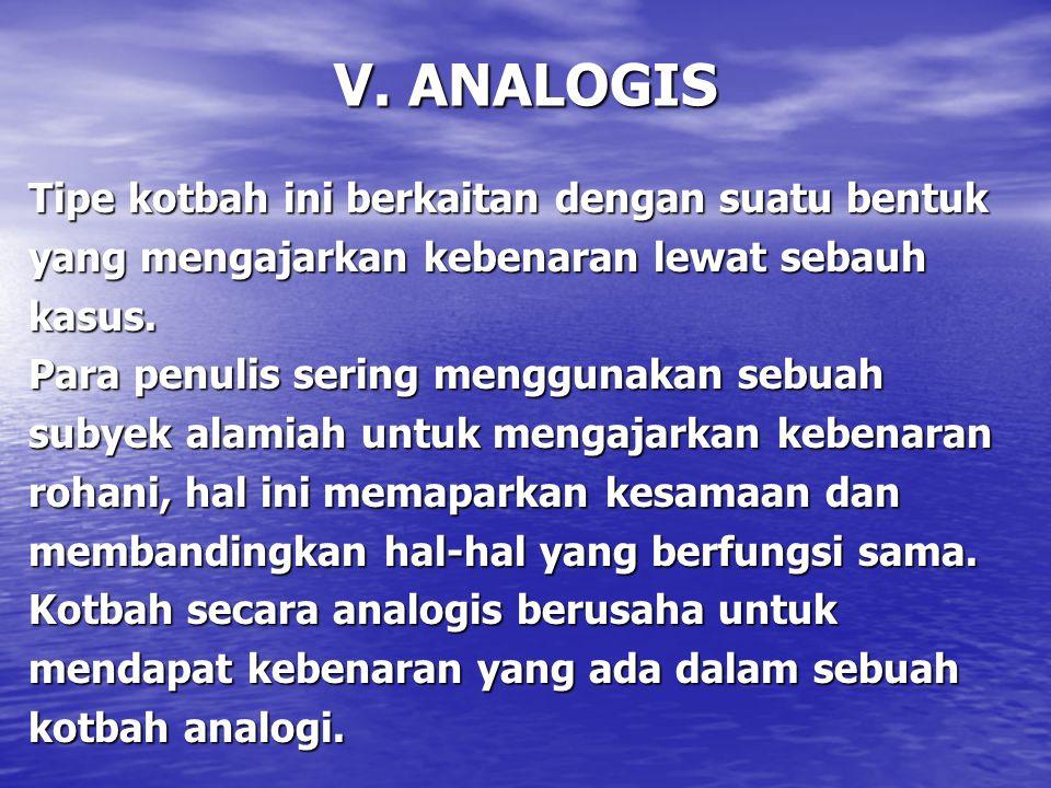 V. ANALOGIS