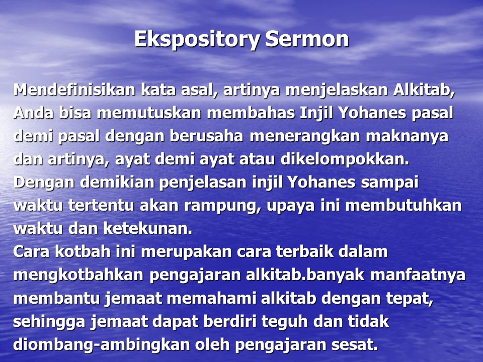 Ekspository Sermon