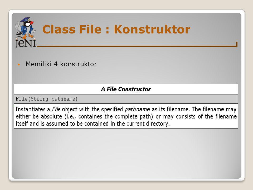 Class File : Konstruktor