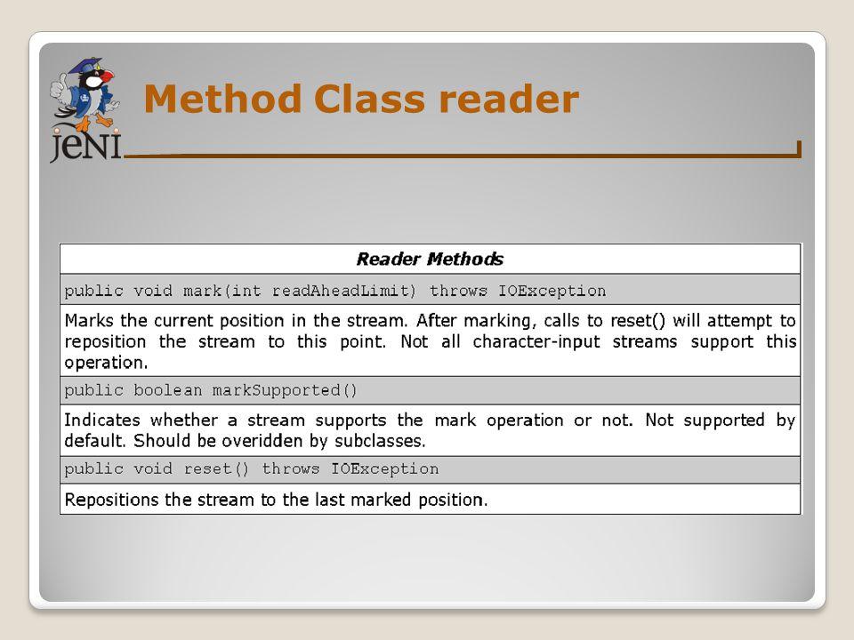 Method Class reader