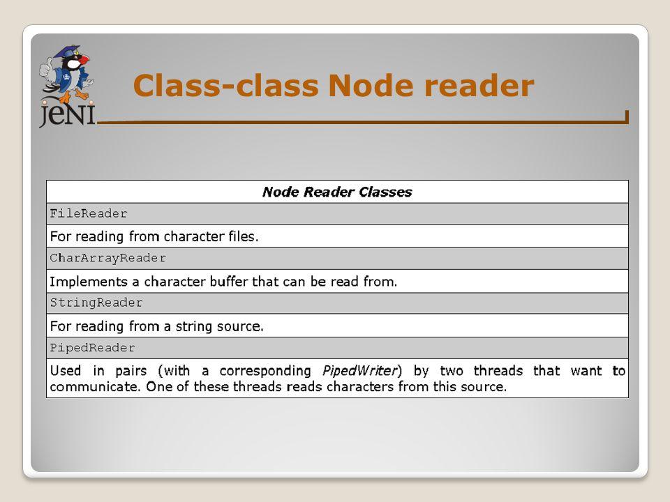 Class-class Node reader