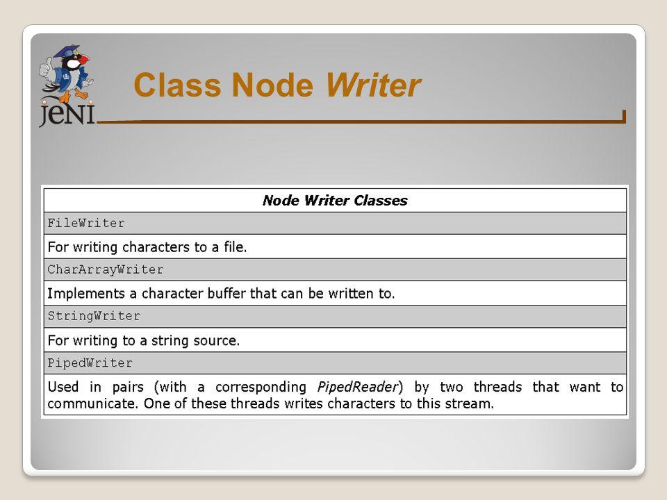 Class Node Writer