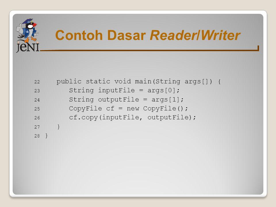 Contoh Dasar Reader/Writer