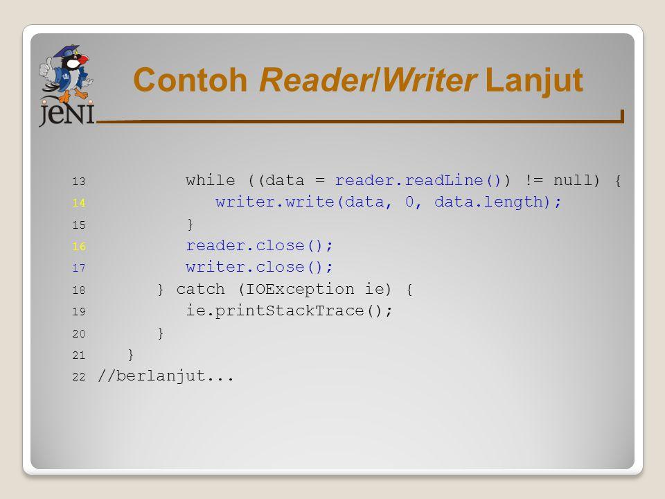 Contoh Reader/Writer Lanjut
