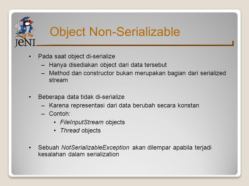 Object Non-Serializable