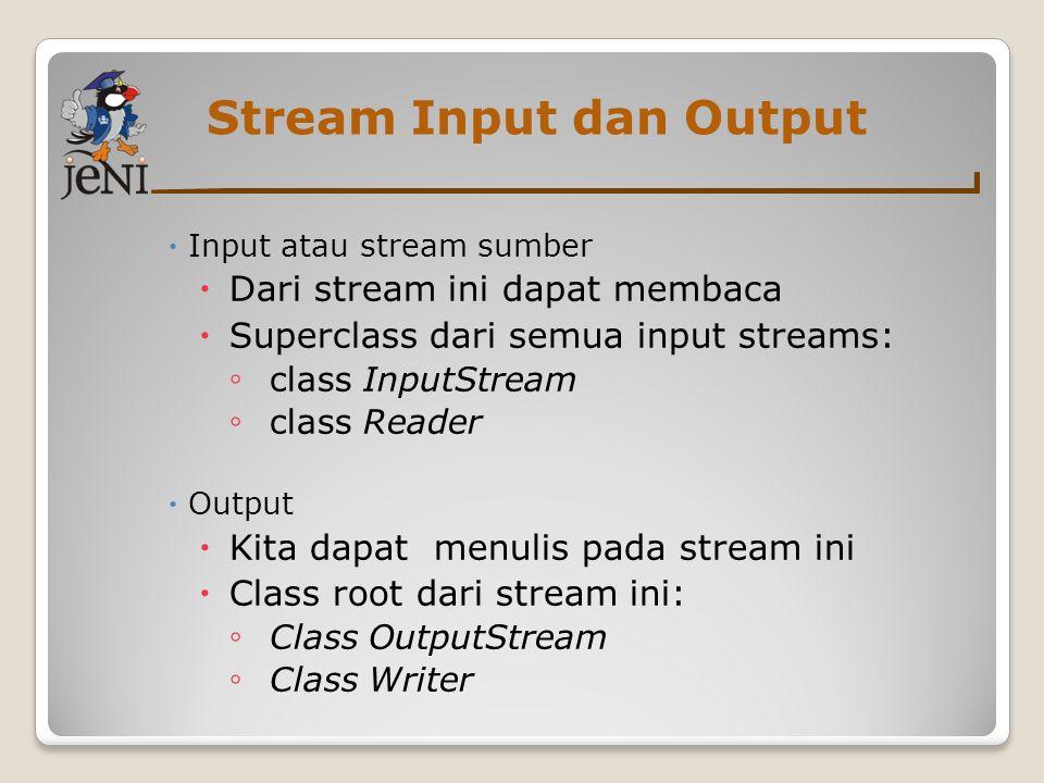 Stream Input dan Output