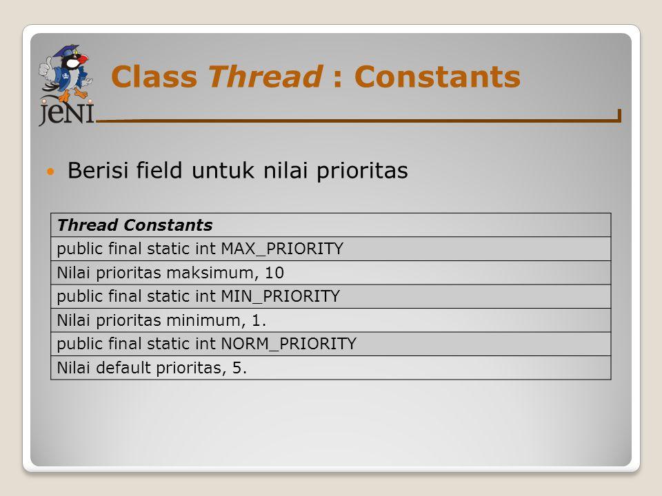 Class Thread : Constants