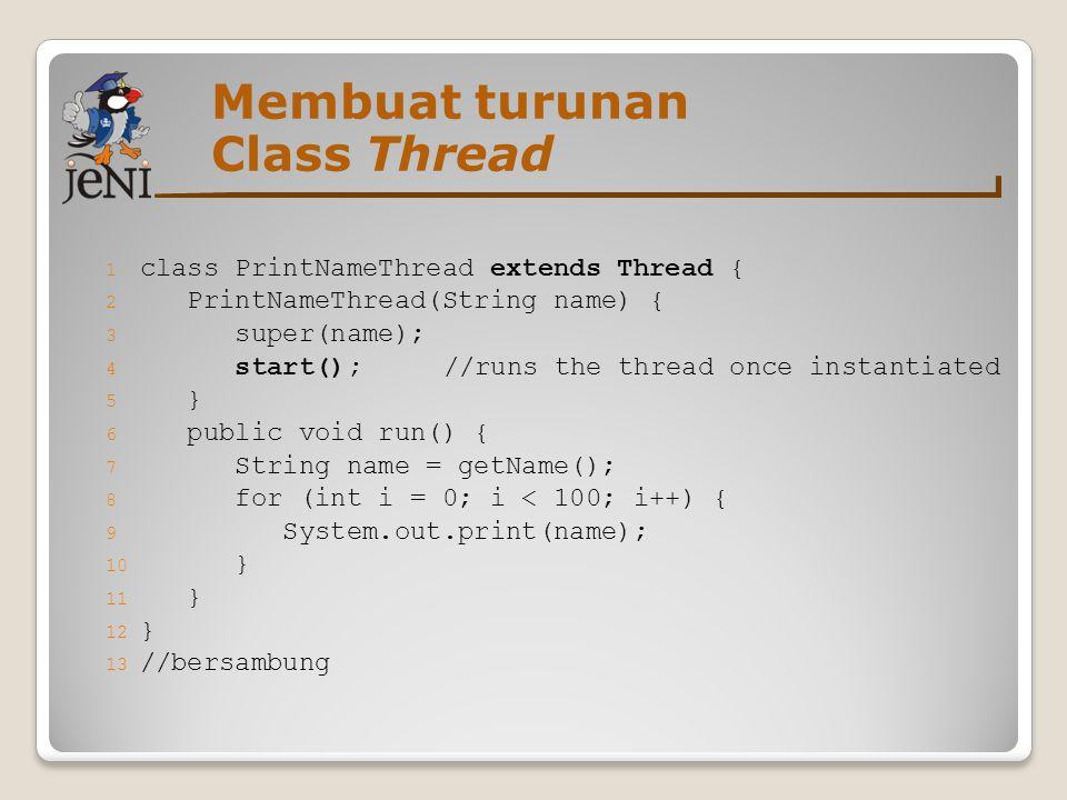 Membuat turunan Class Thread