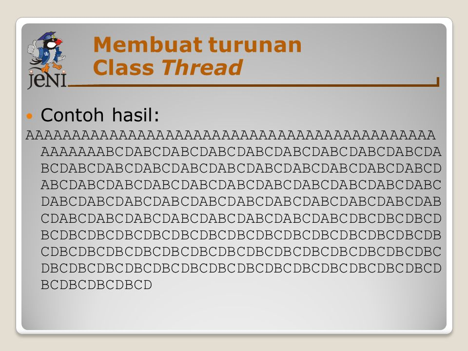 Membuat turunan Class Thread