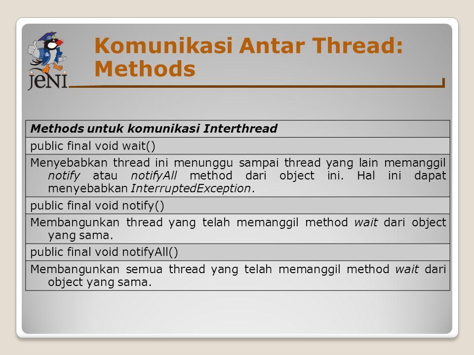 Komunikasi Antar Thread: Methods