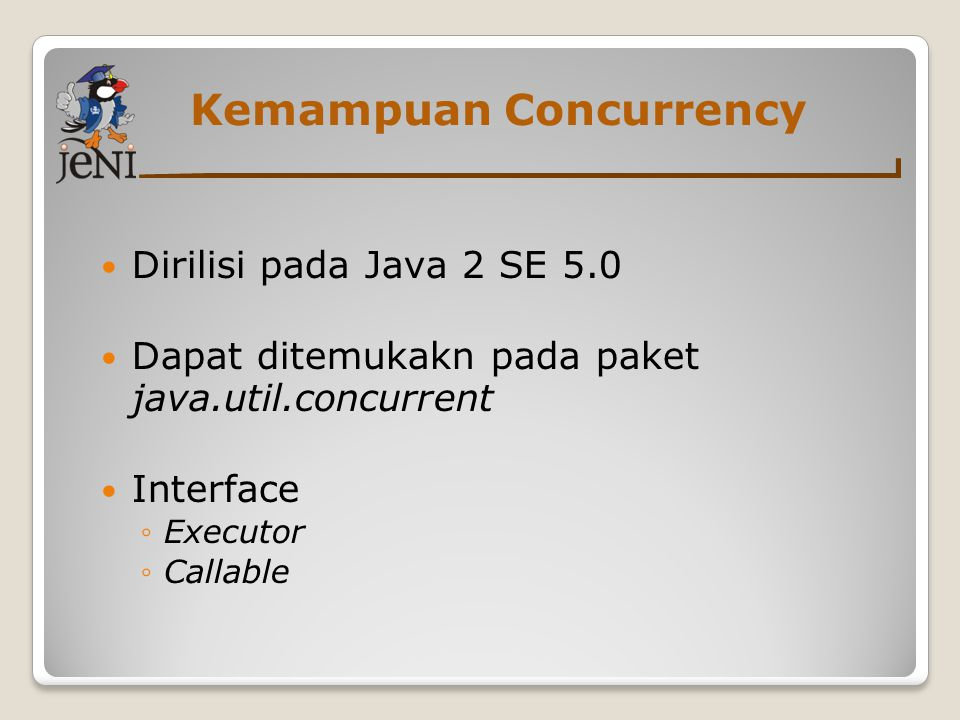 Kemampuan Concurrency
