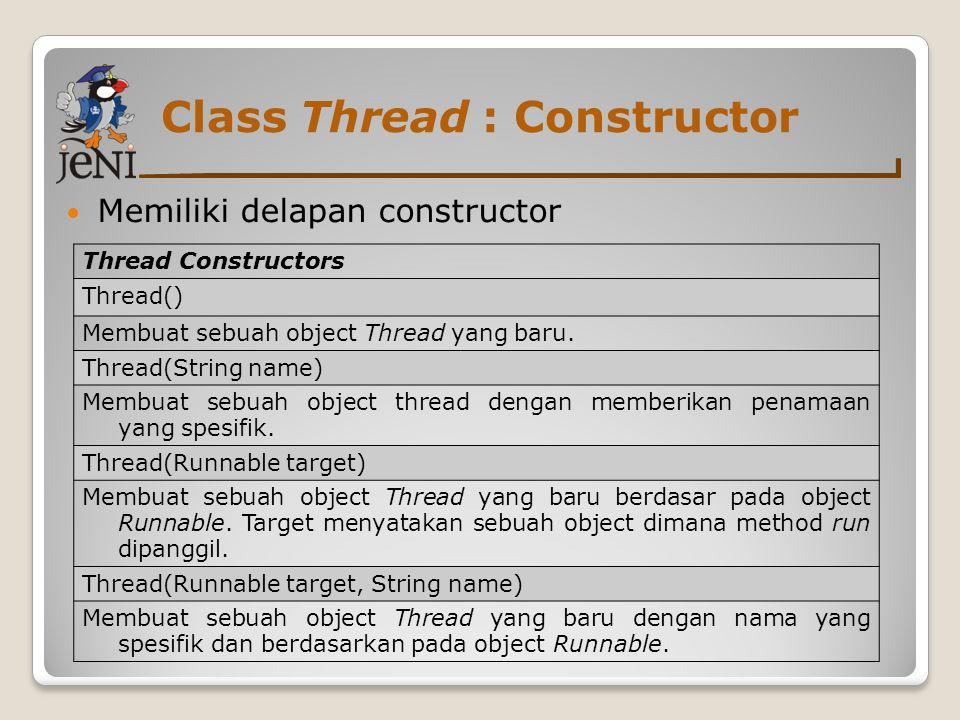 Class Thread : Constructor
