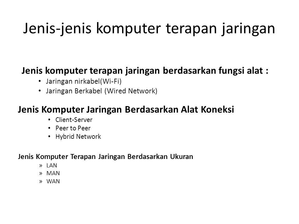 Jenis-jenis komputer terapan jaringan