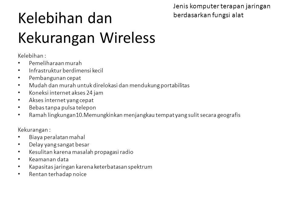 Kelebihan dan Kekurangan Wireless