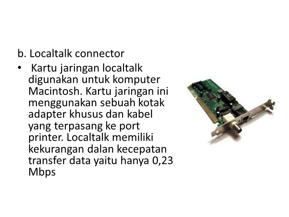 b. Localtalk connector