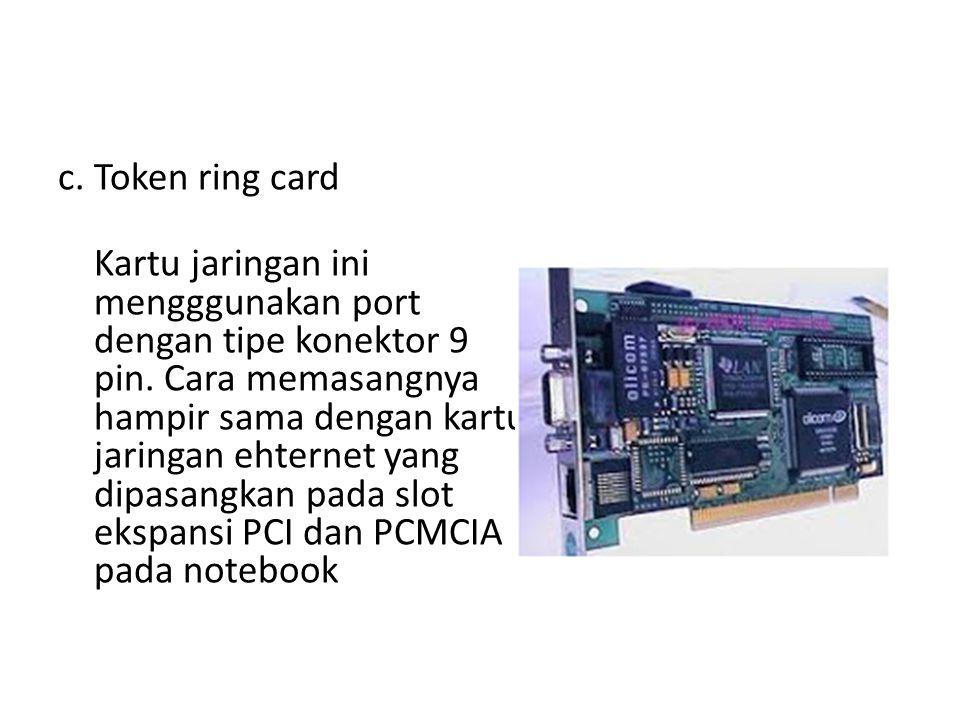 c. Token ring card