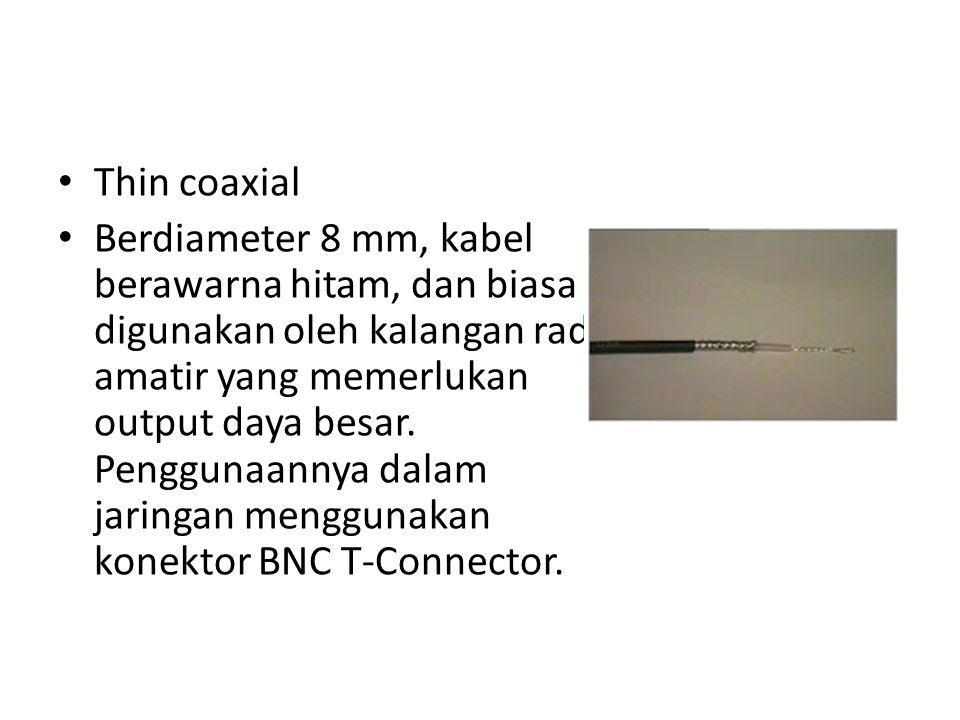 Thin coaxial