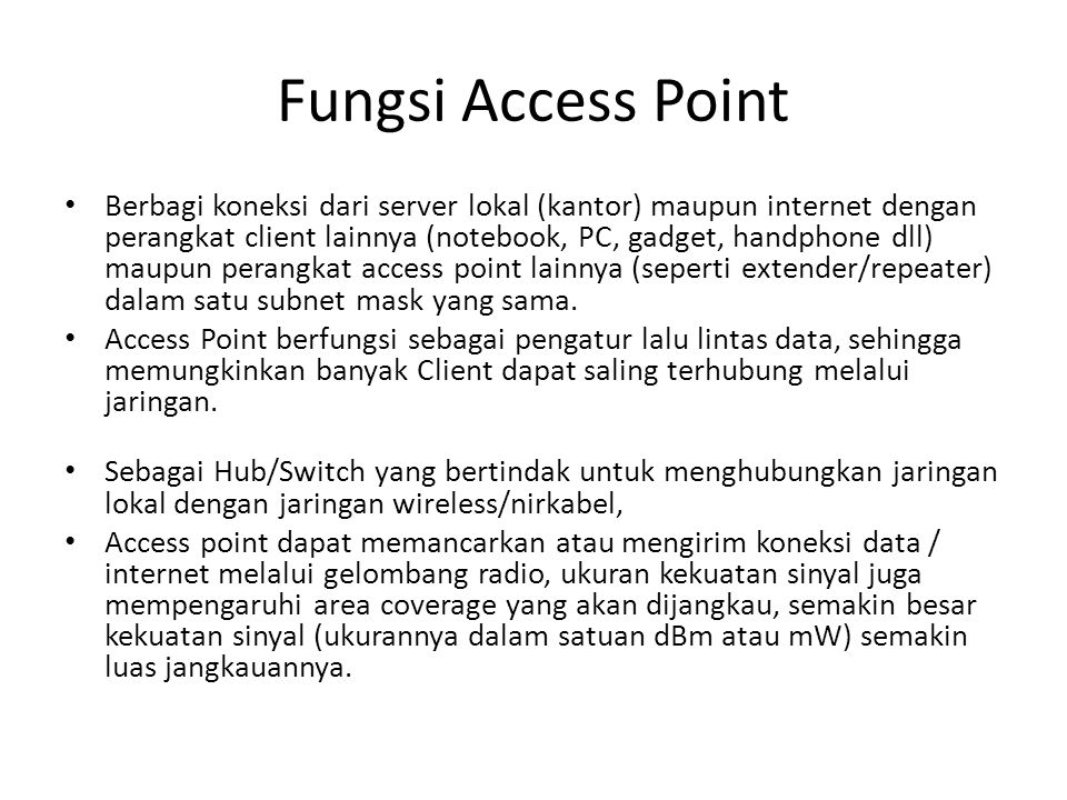 Fungsi Access Point