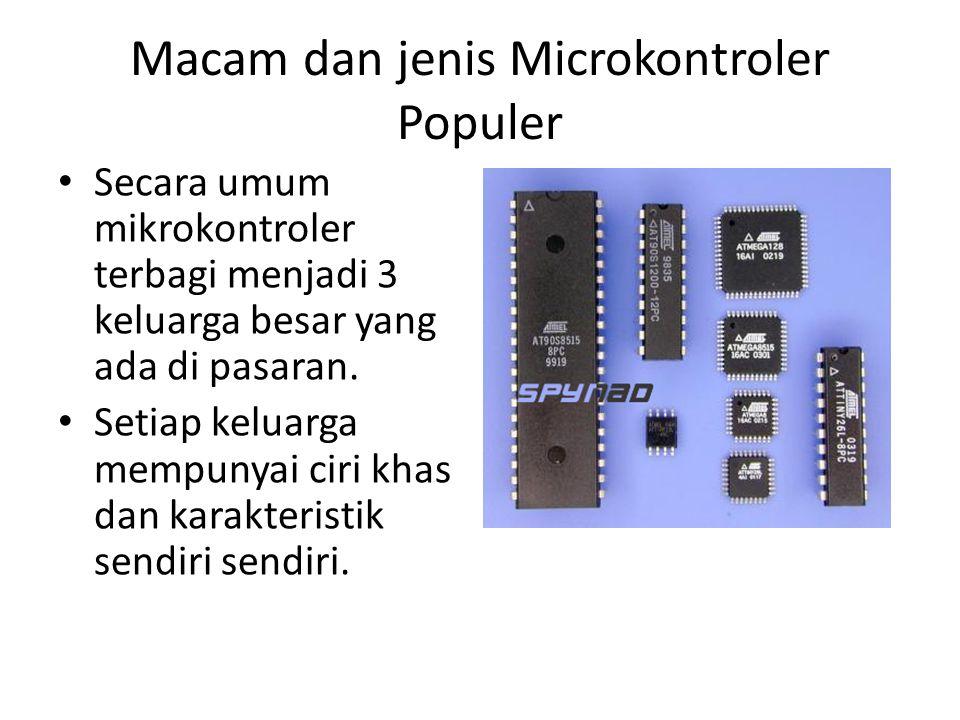 Macam dan jenis Microkontroler Populer