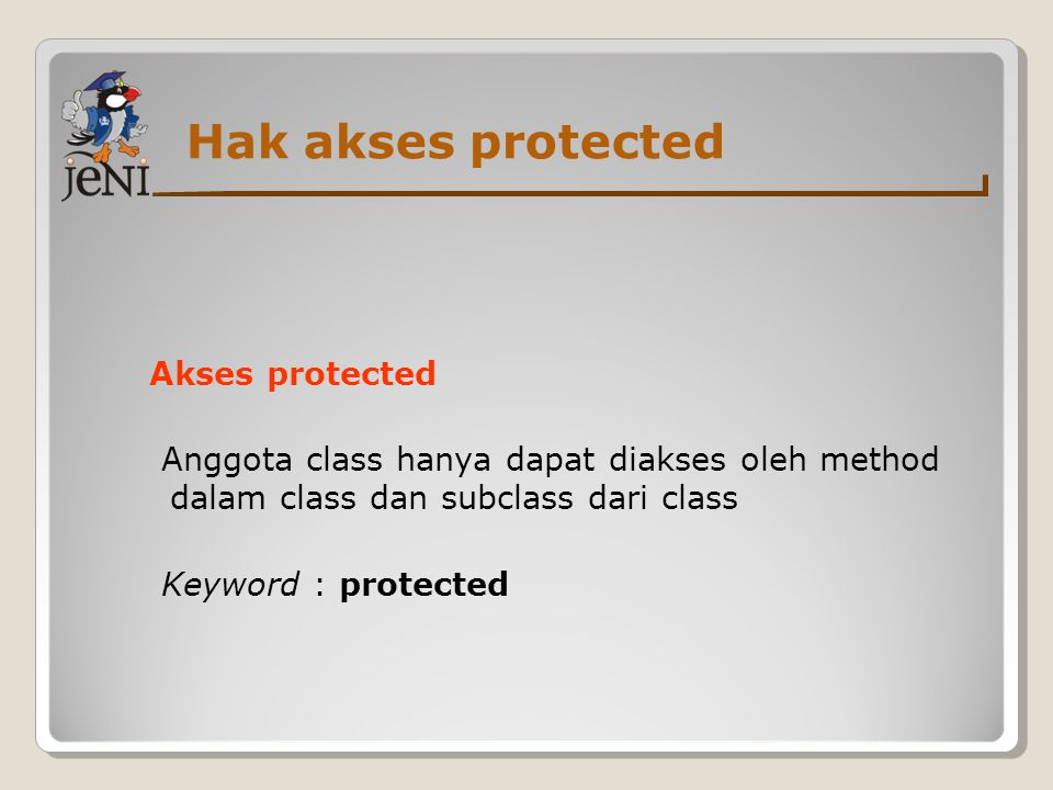 Hak akses protected Akses protected