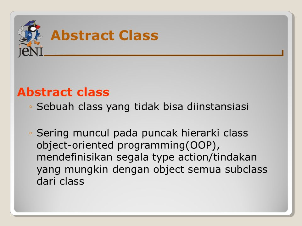 Abstract Class Abstract class