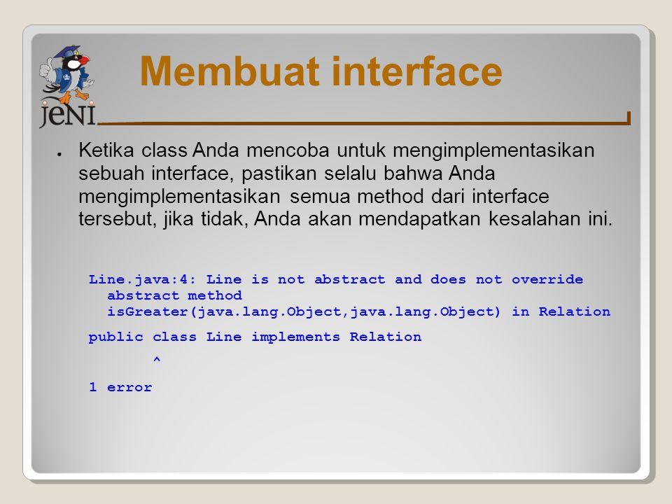 Membuat interface