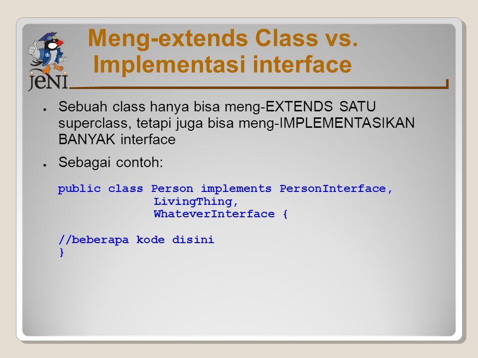 Implementasi interface