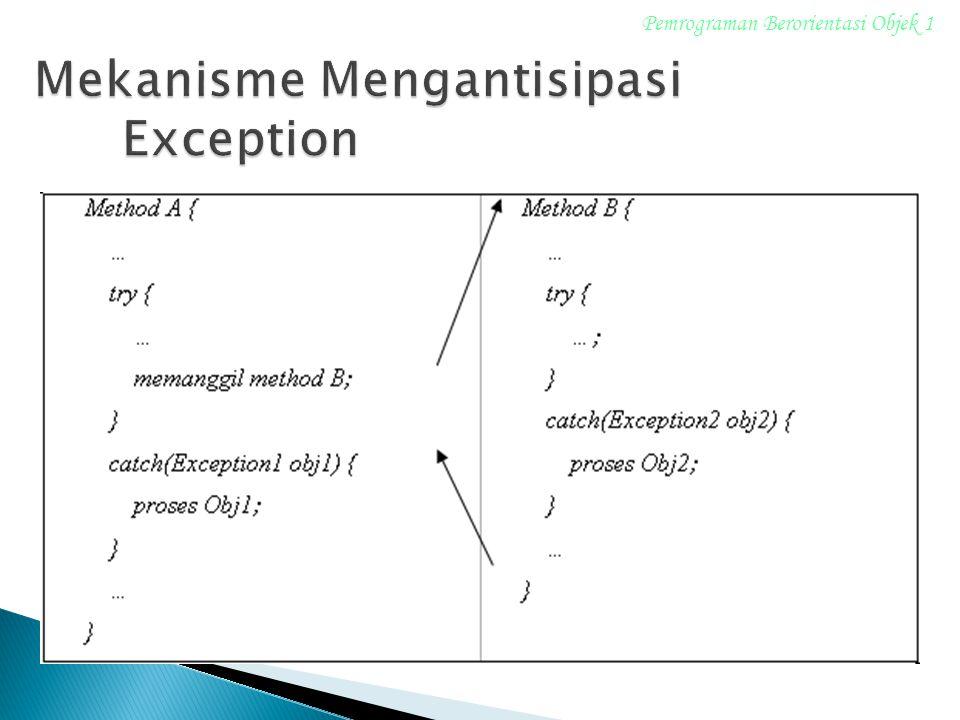 Mekanisme Mengantisipasi Exception