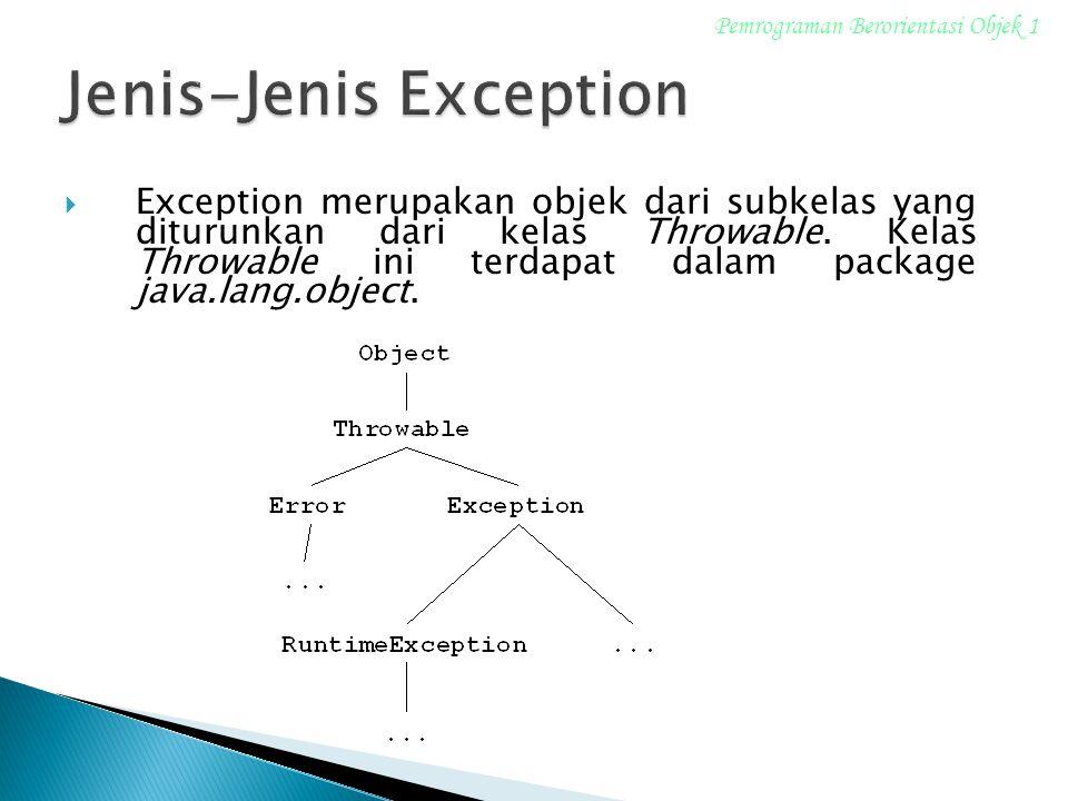 Jenis-Jenis Exception