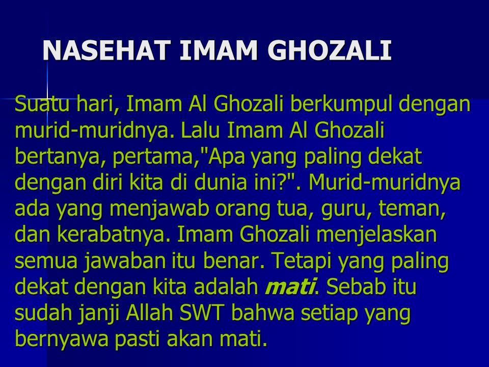 NASEHAT IMAM GHOZALI
