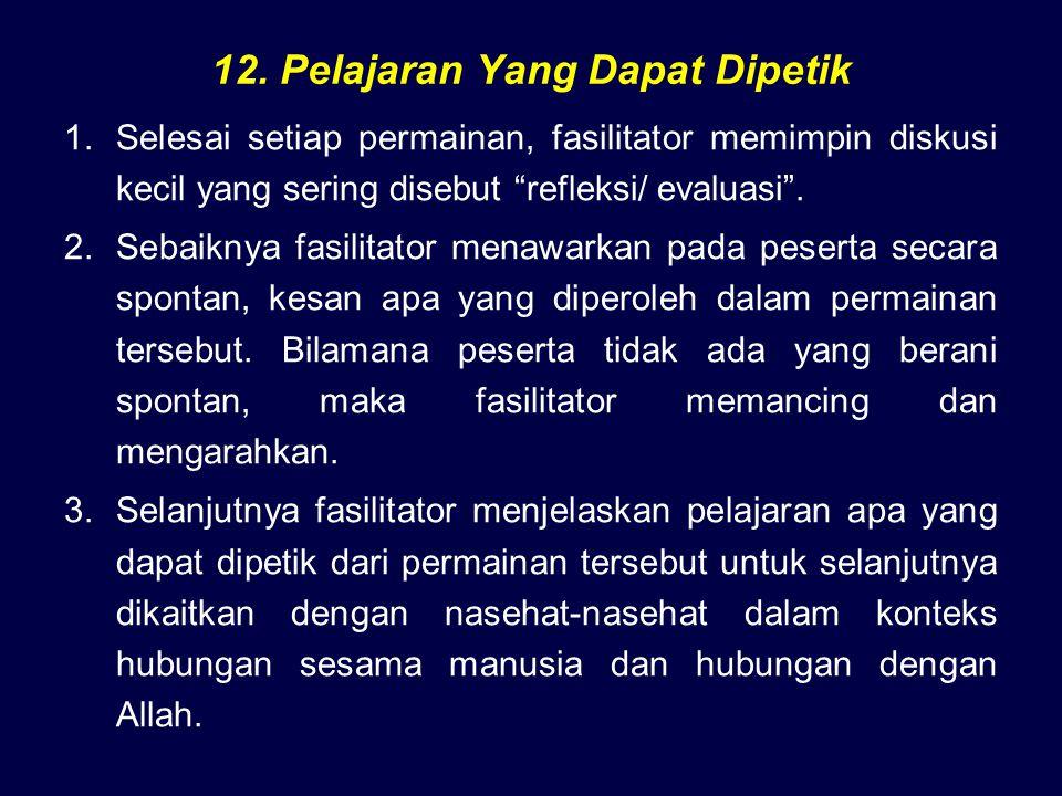 12. Pelajaran Yang Dapat Dipetik