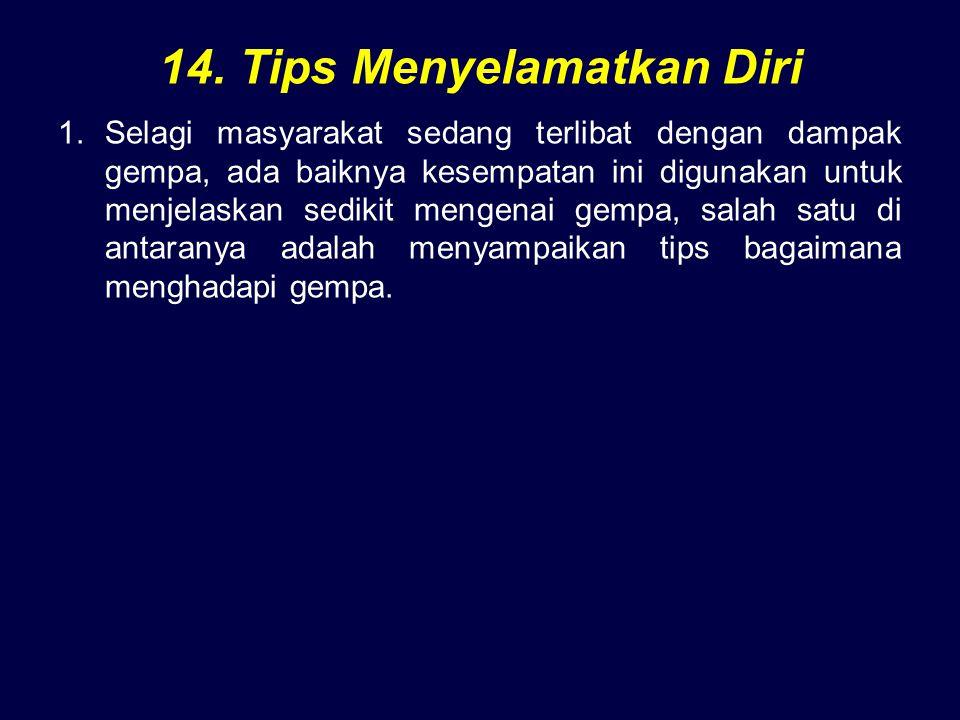 14. Tips Menyelamatkan Diri