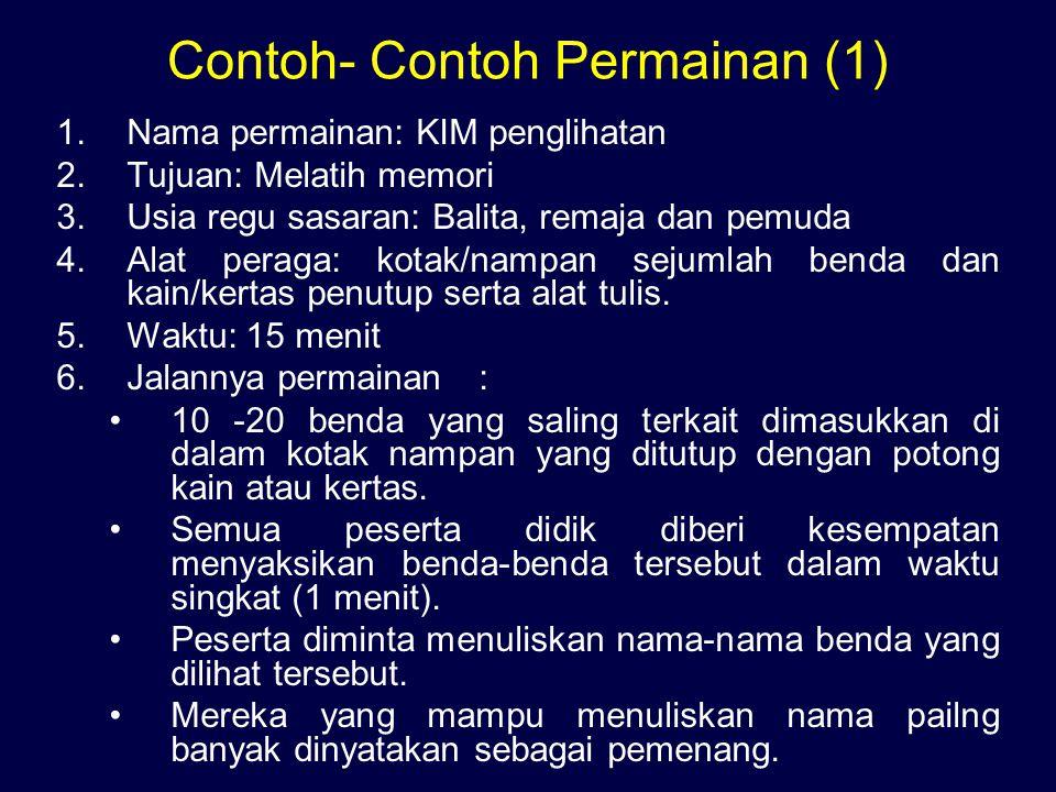 Contoh- Contoh Permainan (1)