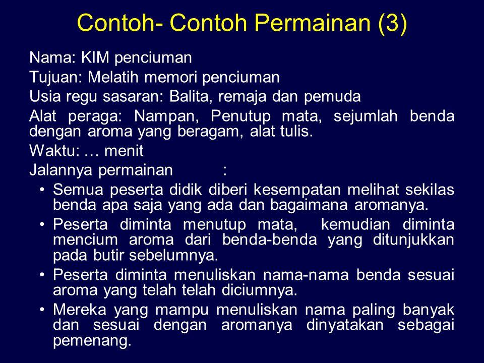 Contoh- Contoh Permainan (3)
