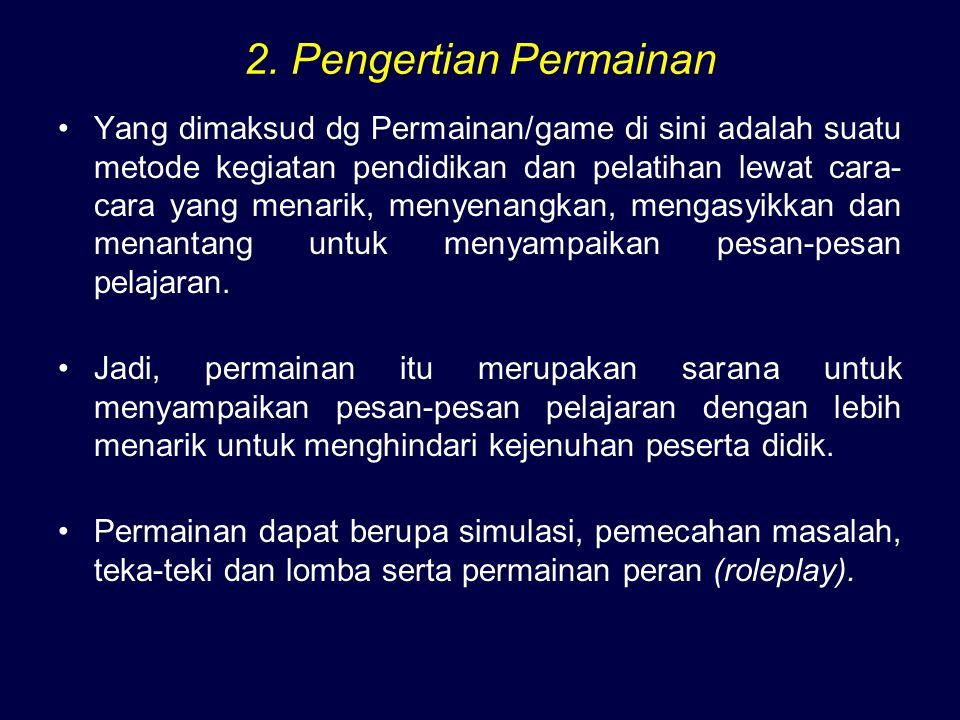 2. Pengertian Permainan