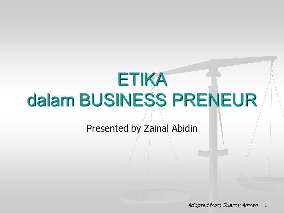 ETIKA dalam BUSINESS PRENEUR