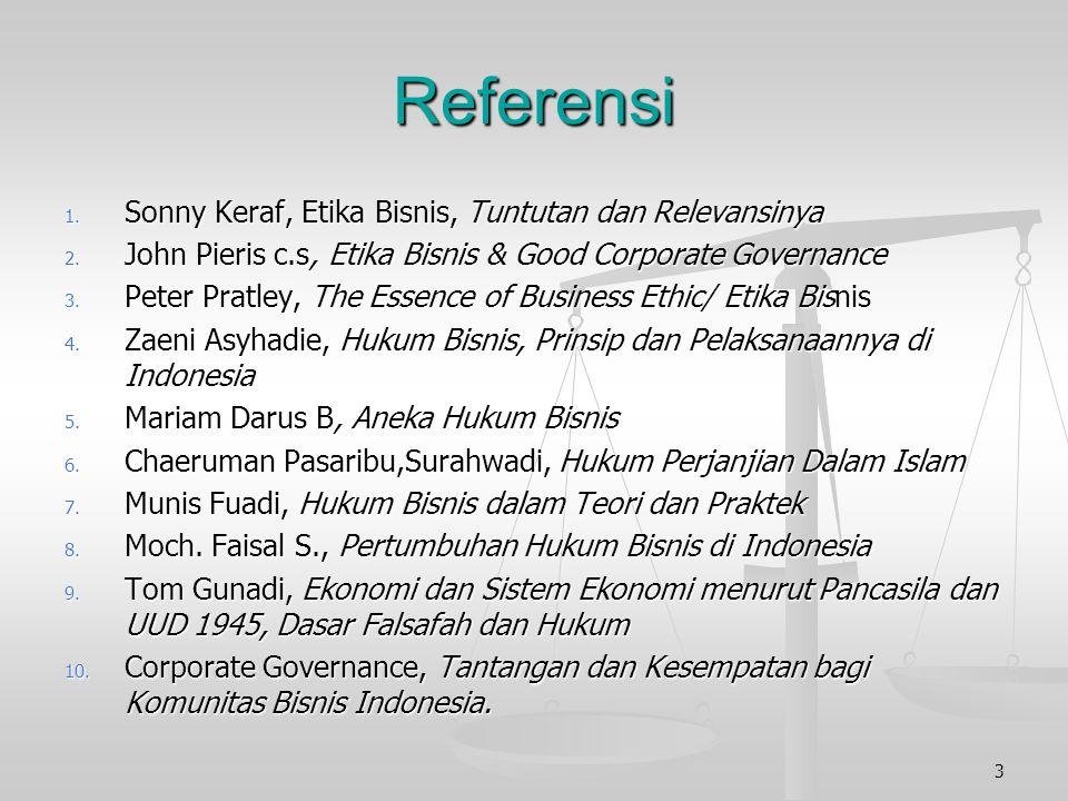 Referensi Sonny Keraf, Etika Bisnis, Tuntutan dan Relevansinya
