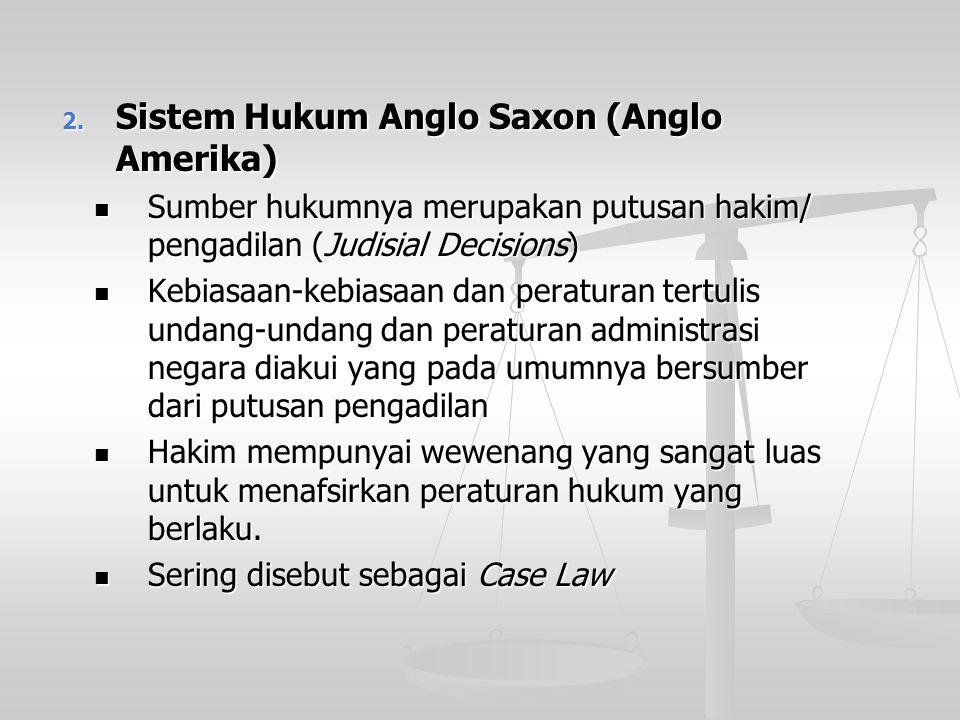 Sistem Hukum Anglo Saxon (Anglo Amerika)