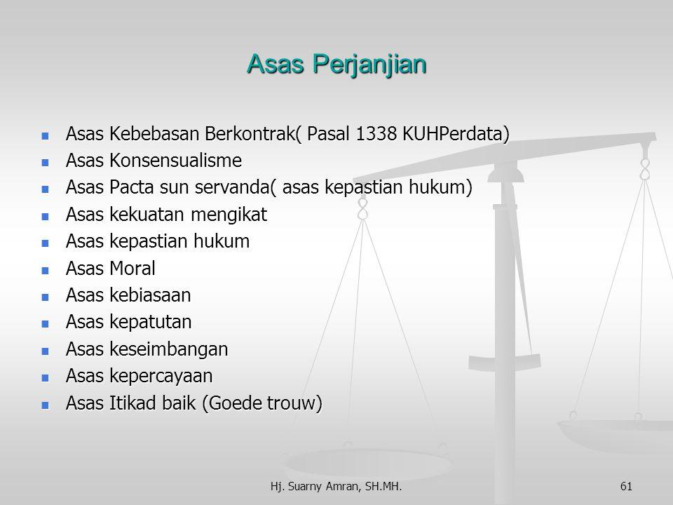 Asas Perjanjian Asas Kebebasan Berkontrak( Pasal 1338 KUHPerdata)