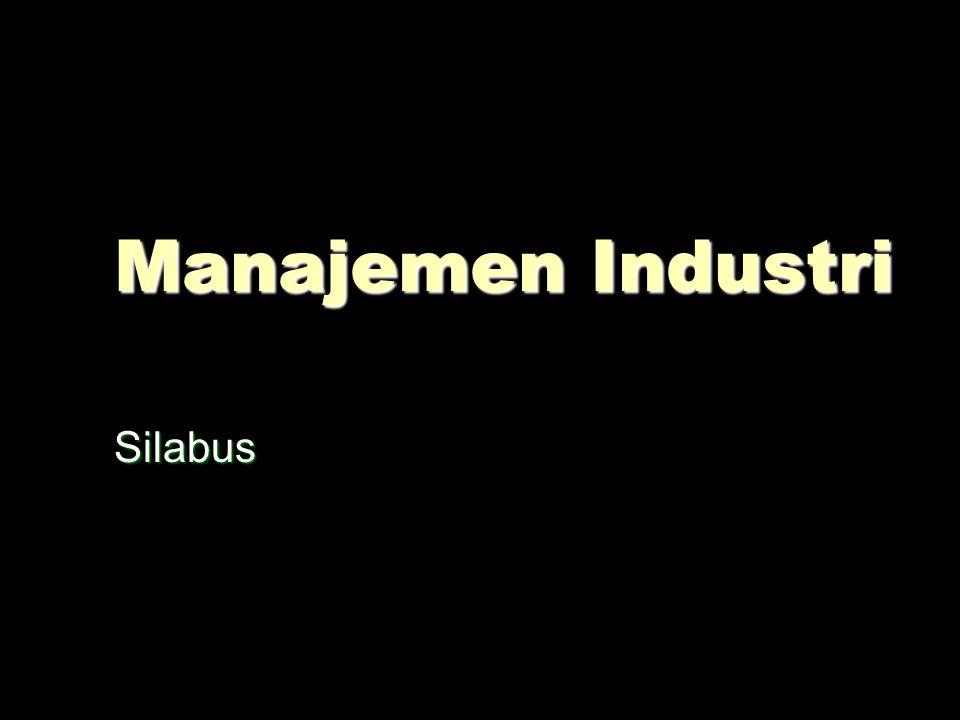 Manajemen Industri Silabus