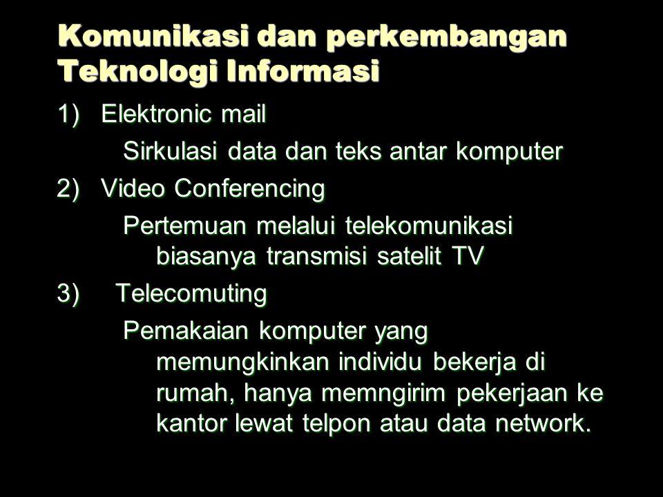 Komunikasi dan perkembangan Teknologi Informasi