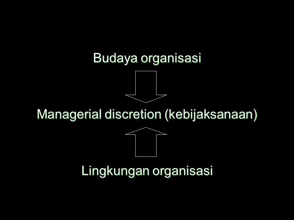 Managerial discretion (kebijaksanaan)
