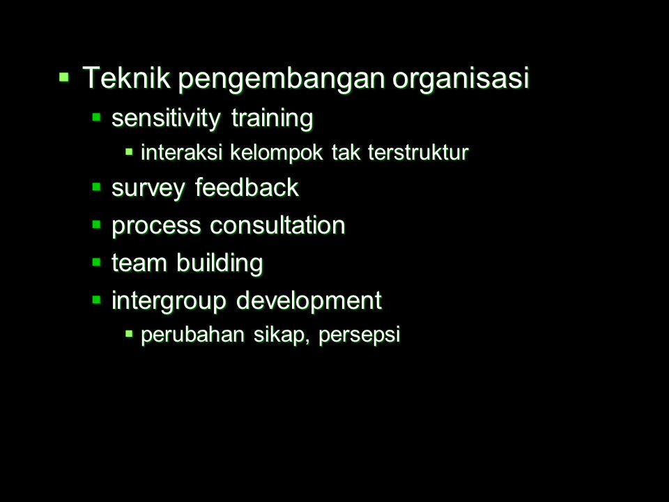 Teknik pengembangan organisasi