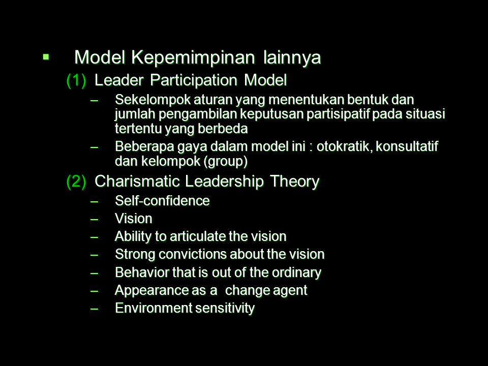 Model Kepemimpinan lainnya
