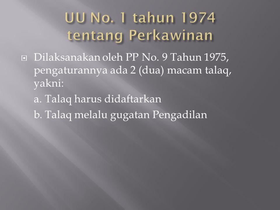 UU No. 1 tahun 1974 tentang Perkawinan