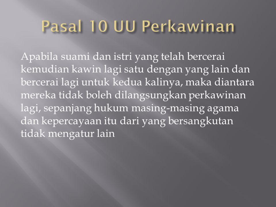 Pasal 10 UU Perkawinan