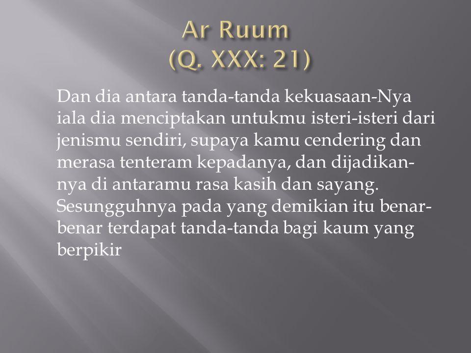 Ar Ruum (Q. XXX: 21)