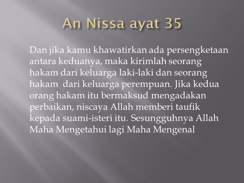 An Nissa ayat 35