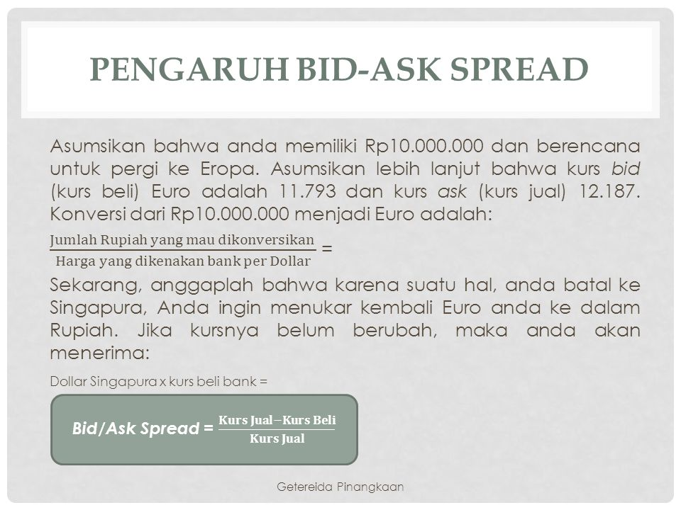 Pengaruh Bid-ask spread