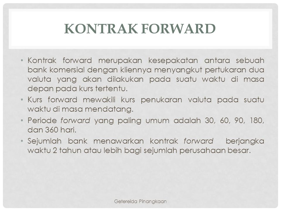 Kontrak forward